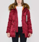 Alpha Industries dámska bunda N3B VF 59 Wmn - bordová (burgundy)