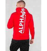Alpha Industries mikina Back Print Hoody - červená (speed red)