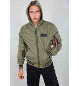 Alpha Industries bunda MA-1 TT Hood Defense - olivová (olive)