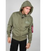 Alpha Industries bunda MA-1 LW Hooded - olivová (olive)