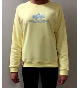 Alpha Inudustries mikina New Basic Sweater Wmn - žltá (pastel yellow)