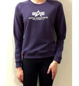 Alpha Inudustries mikina New Basic Sweater Wmn - tmavo slivková (nightshade)
